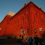 Moscú: rojo sobre azul