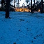 Nieve en Madrid: fotos en el Retiro en la hora azul