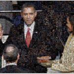 Obama: la foto del juramento, compuesta por miles de fotografías