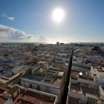 Cádiz: a vista de pájaro, desde la torre Tavira