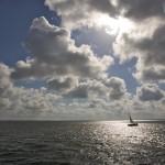 Stralsund, Alemania: el velero y las nubes
