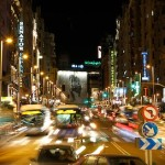 Caos en la Gran Vía de Madrid