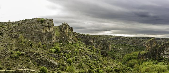 Pelegrina, Guadalajara. Panorámica de 5 fotografías. Proporción 1:2,3.  © Alberto Honing